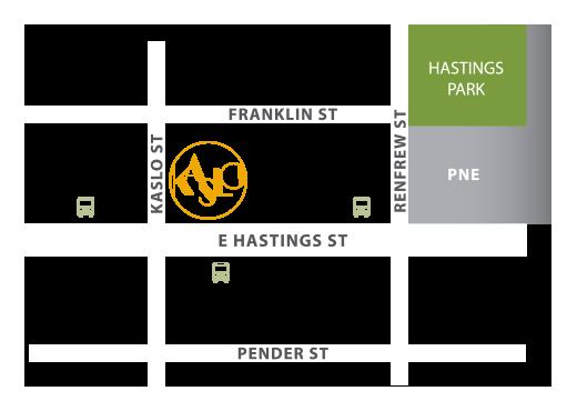 Kaslo map